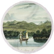 Robert Fultons Clermont Round Beach Towel