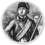 Robert Rogers, Colonial American Round Beach Towel by Photo Researchers