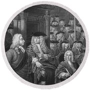 Robert Walpole (1676-1745) Round Beach Towel
