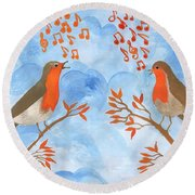 Robin Singing Competition Round Beach Towel