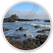 Rock Beach Round Beach Towel