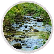Rock Creek Bed Round Beach Towel