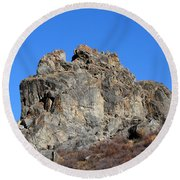 Rock Formation Round Beach Towel