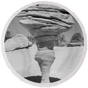 Rock Formation, Utah National Park Round Beach Towel
