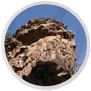 Rock Formations Bhimbhetka Round Beach Towel