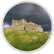 Rock Of Cashel, Cashel, Co Tipperary Round Beach Towel