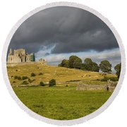 Rock Of Cashel, Cashel, County Round Beach Towel