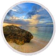 Rock On Round Beach Towel