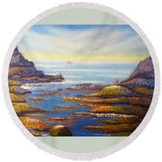 Rock Pools At North Beach Wollongong Round Beach Towel
