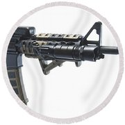 Rock River Arms Ar-15 Rifle Equipped Round Beach Towel