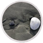 Rocks And Sand  Round Beach Towel