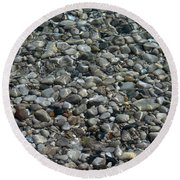 Rocks In Shallow Water Round Beach Towel