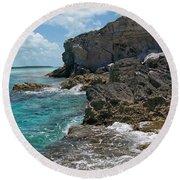 Rocky Barrier Island Round Beach Towel