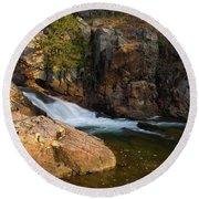 Rocky Creek Round Beach Towel