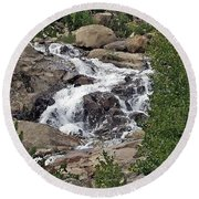 Rocky Mountain Falls Round Beach Towel