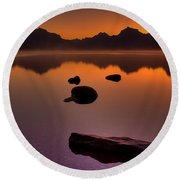 Rocky Mountain Magic-six-fiftyone Am Round Beach Towel