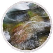 Rocky Riverbed Round Beach Towel