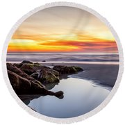 Rocky Shoreline Round Beach Towel