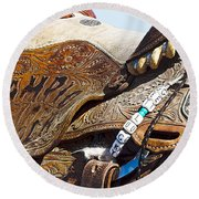 Rodeo 17 Round Beach Towel