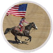 Rodeo Colors - A Round Beach Towel