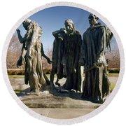 Rodin: Burghers Of Calais Round Beach Towel