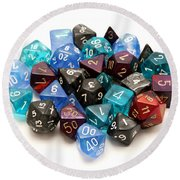 Role-playing Dices Round Beach Towel