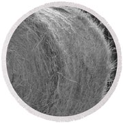 Roll In The Hay Round Beach Towel