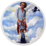 Roll Over Beethoven Round Beach Towel