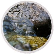 Rolling River Round Beach Towel