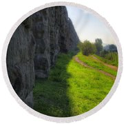 Roman Aqueducts Round Beach Towel