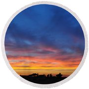 Roman Sunset Round Beach Towel