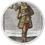 Roman Trumpet, 1723 Round Beach Towel
