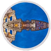 Romano Spaceship - Archifou 73 Round Beach Towel