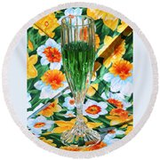Romantic Emerald Round Beach Towel