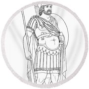 Rome: Army General Round Beach Towel
