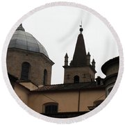 Rome Church Round Beach Towel