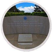 Ronald Reagan Memorial Round Beach Towel
