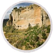 Ronda Rock In Andalusia Round Beach Towel