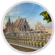 Rong Khun Temple Round Beach Towel