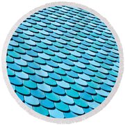 Roof Panels Round Beach Towel
