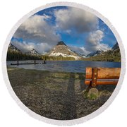 Room To View Round Beach Towel