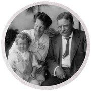 Roosevelt Family, 1915 Round Beach Towel
