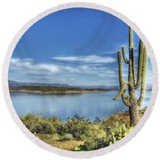 Roosevelt Lake  Round Beach Towel