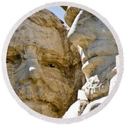 Roosevelt On Mt Rushmore National Monument Round Beach Towel