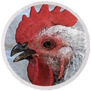 Rooster No. 2 Round Beach Towel