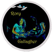 Rory And The Aliens Round Beach Towel