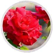 Rosas Roja Round Beach Towel