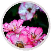 Rose 121 Round Beach Towel by Pamela Cooper