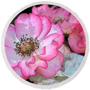 Rose 129 Round Beach Towel by Pamela Cooper