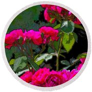 Rose 135 Round Beach Towel